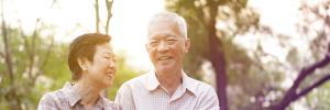 Elderly couple enjoying life